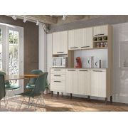 Cozinha Compacta Ágata com 8 Portas 2906 Kit's Paraná Nogal Arena