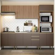 Cozinha Compacta com 5 Peças Cook 9004 Madeira e Oxid