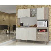 Cozinha Compacta Jade 2843 Kit's Paraná Nogal Arena