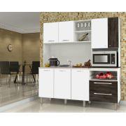 Cozinha Compacta Jade 2843 Kit's Paraná White/Petróleo