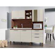 Cozinha Compacta Mega 2928 com 7 Portas Kit's Paraná Nogueira Off White