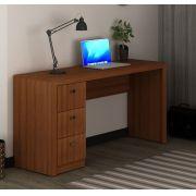 Escrivaninha com 3 Gavetas ME4102 Tecno Mobili Amêndoa