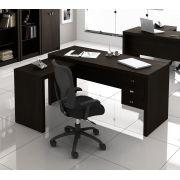 Escrivaninha de 3 Gavetas com Montagem Reversível ME4106 Tecno Mobili Tabaco