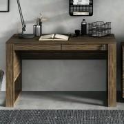 Escrivaninha Mesa de Escritório com Gavetas ME4144 Nogal Tecno Mobili