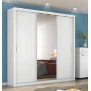 Guarda Roupa Casal com Espelho 3 Portas Residence II Demóbile Branco