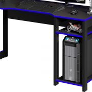 Mesa para Computador Desk Gamer ME4152 Preto e Azul