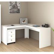 Mesa para Escritório Angular ME4116 Tecno Mobili Branco