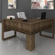 Mesa para Escritório Angular ME4145 Nogal Tecno Mobili