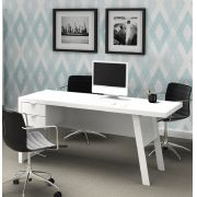 Mesa para Escritório com 2 Gavetas ME4122 Tecno Mobili Branco