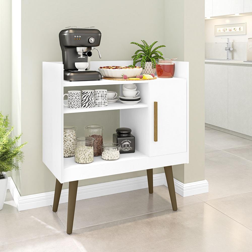 Aparador Café II com 1 Porta e Nichos Branco