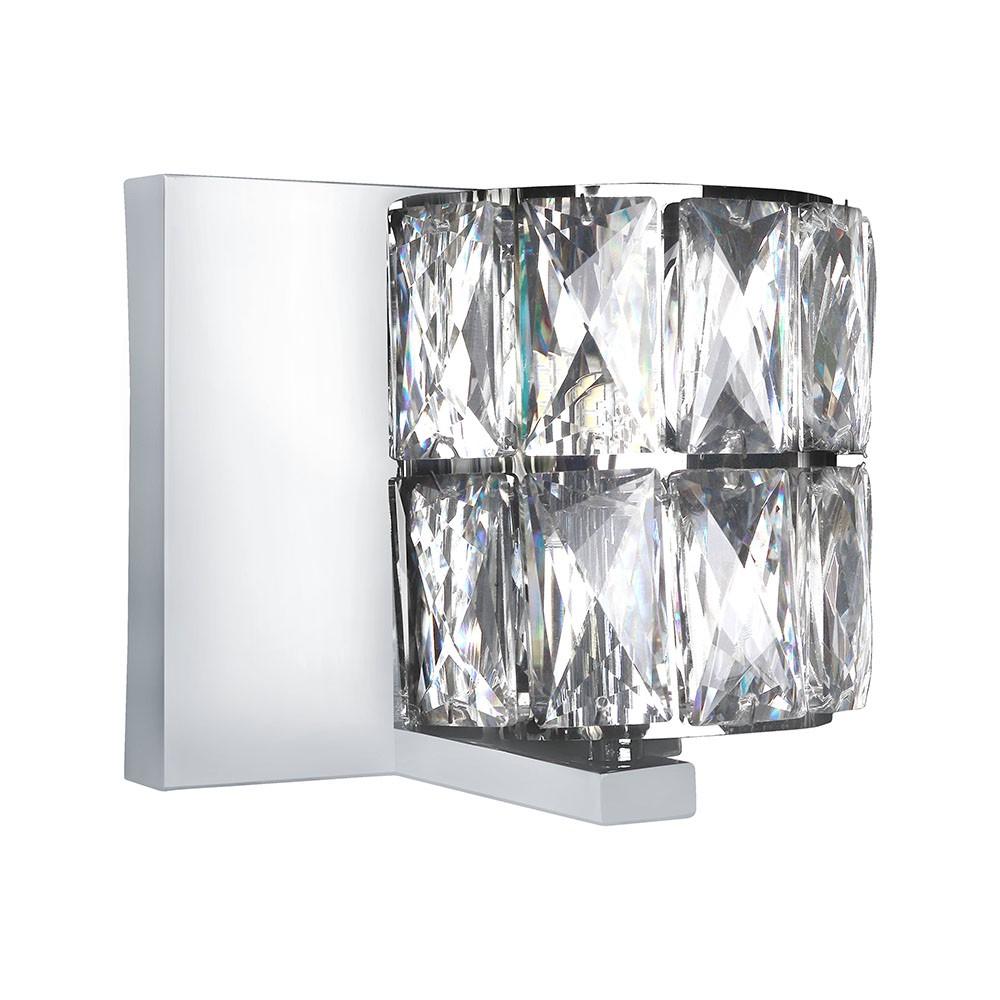 Arandela de Cristal Cromada 121093 Perin e Bressan