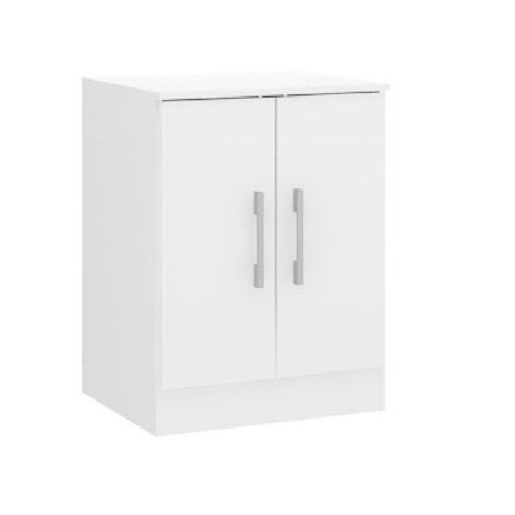 Armário Baixo com 2 Portas 0723 Branco Soluzione