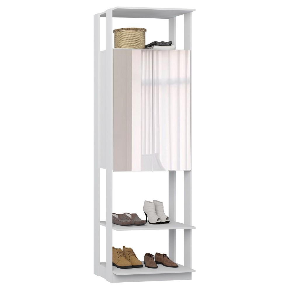 Armário com Espelho Clothes 1007 Branco