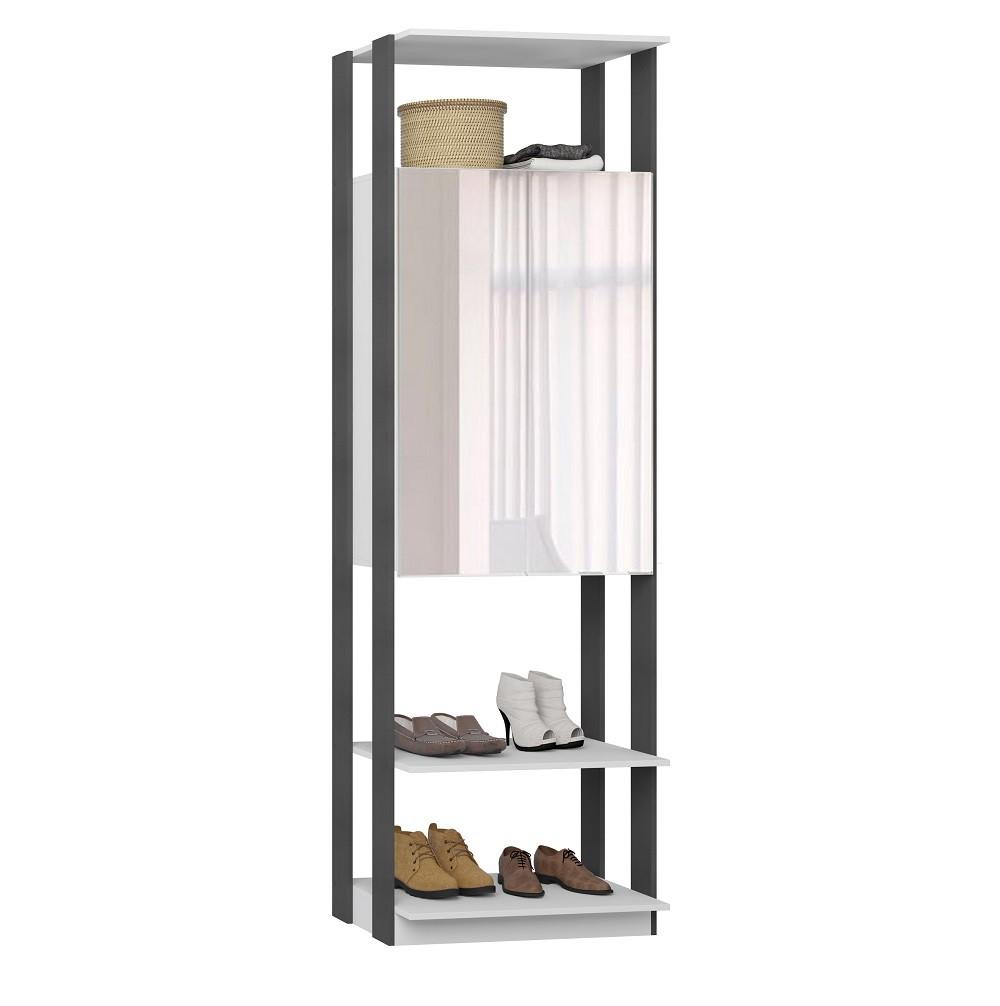 Armário com Espelho Clothes 1007 Branco Espresso
