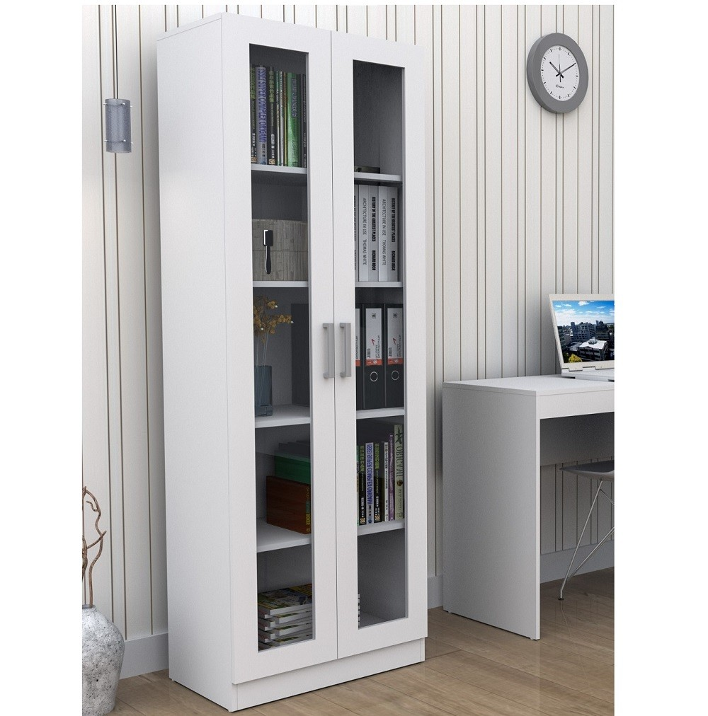 Armário para Escritório com 2 Portas de Vidro Appunto Branco 3003-10