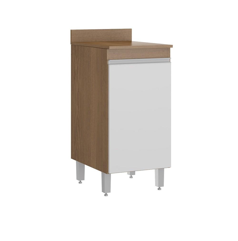 Balcão de Cozinha com 1 Porta 0457 Avelã com Branco Soluzione