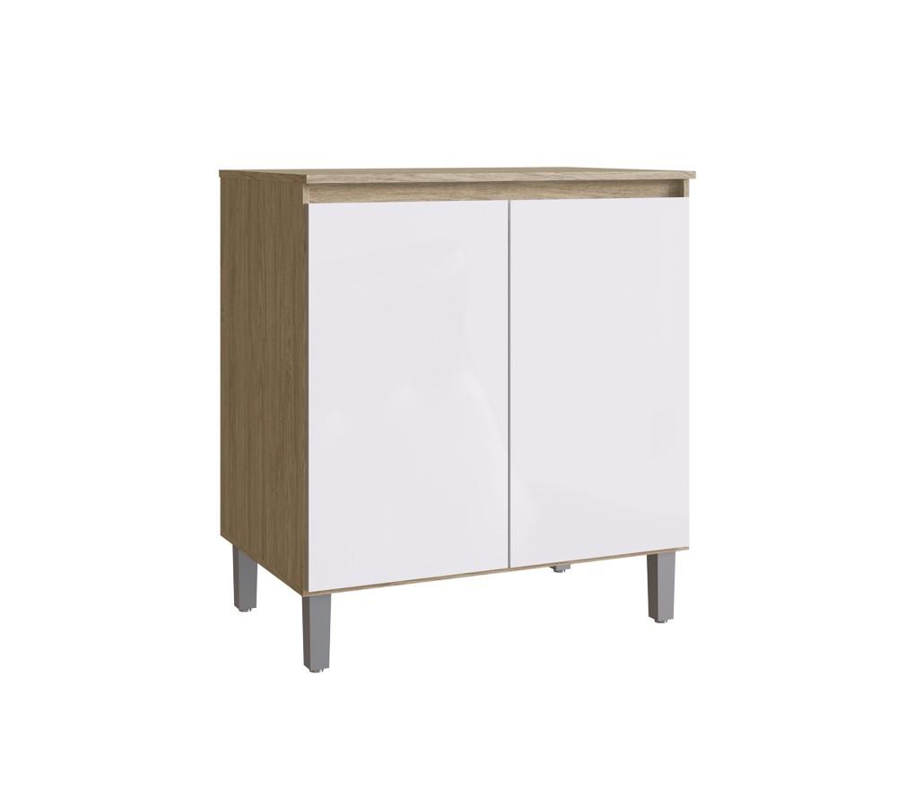 Balcão de Cozinha com 2 Portas CO2120 Malbec com Branco Decibal
