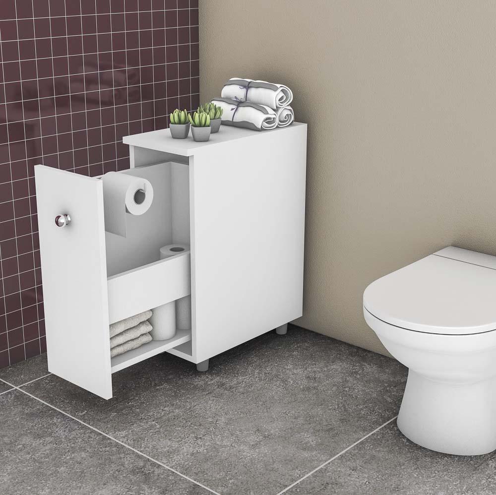 Balcão para Banheiro com 1 Porta BCM 116 Branco