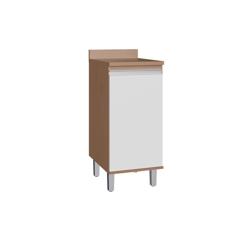 Balcão para Cozinha com 1 Porta CO7103 Avelã com Branco Decibal