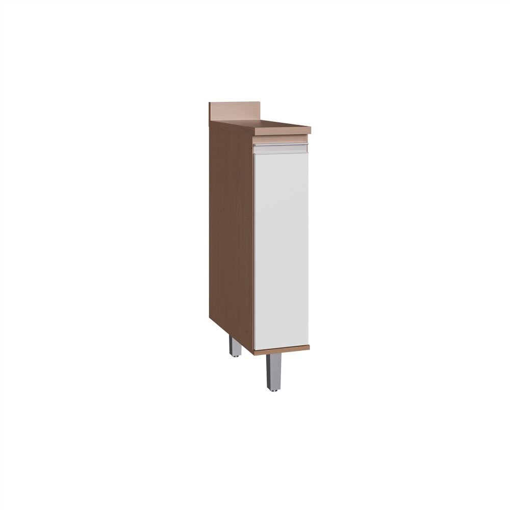 Balcão para Cozinha com 1 Porta Condimentos CO7104 Avelã com Branco Decibal