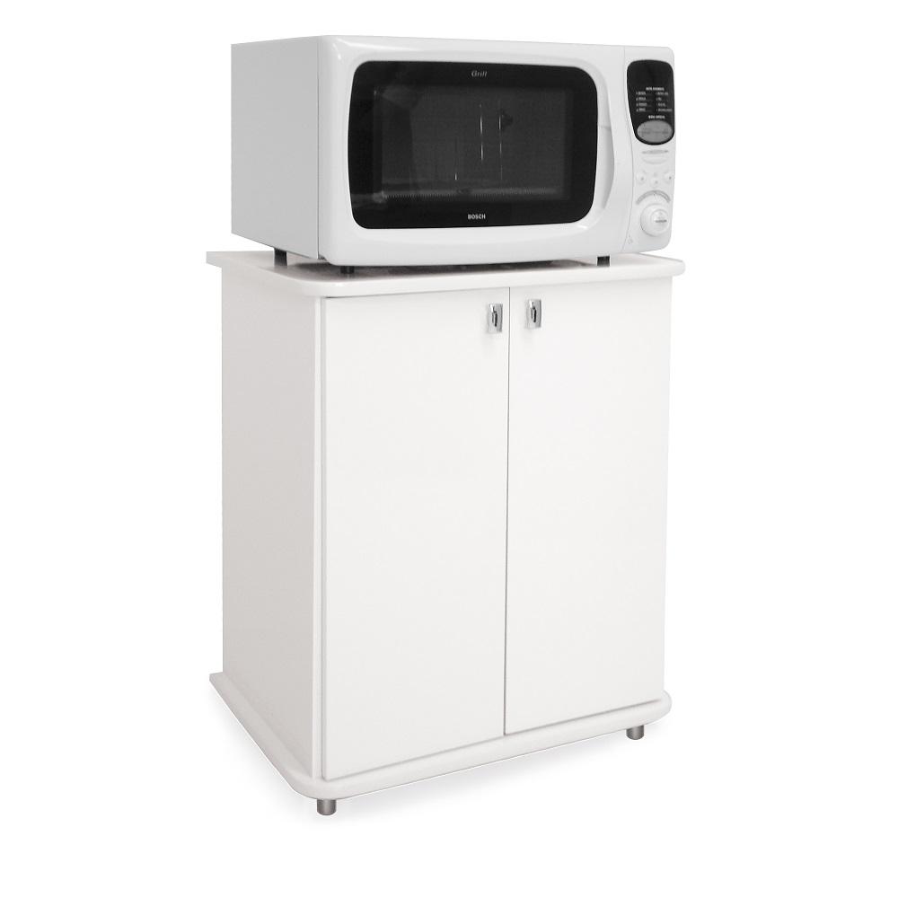 Balcão para Micro-ondas com 2 Portas  ASM 155 Branco