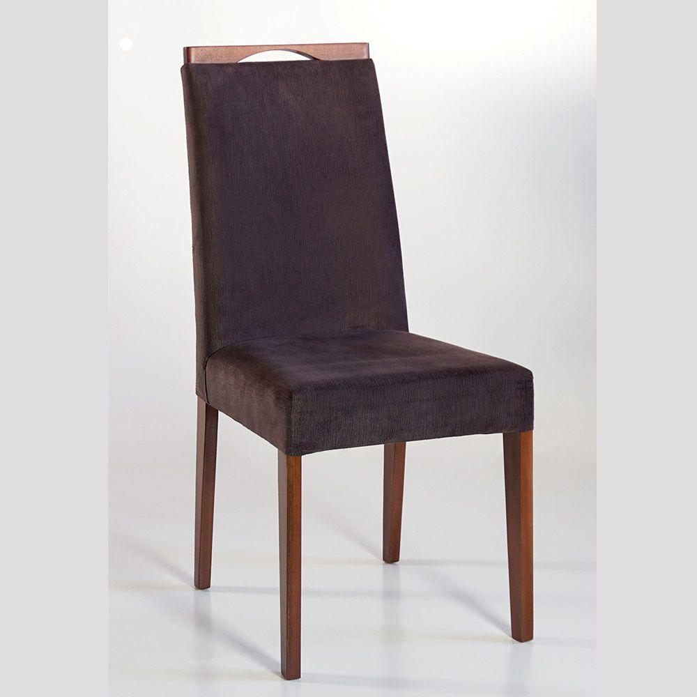 Cadeira Estofada Angra com Aplique Dorigon Tecido A102