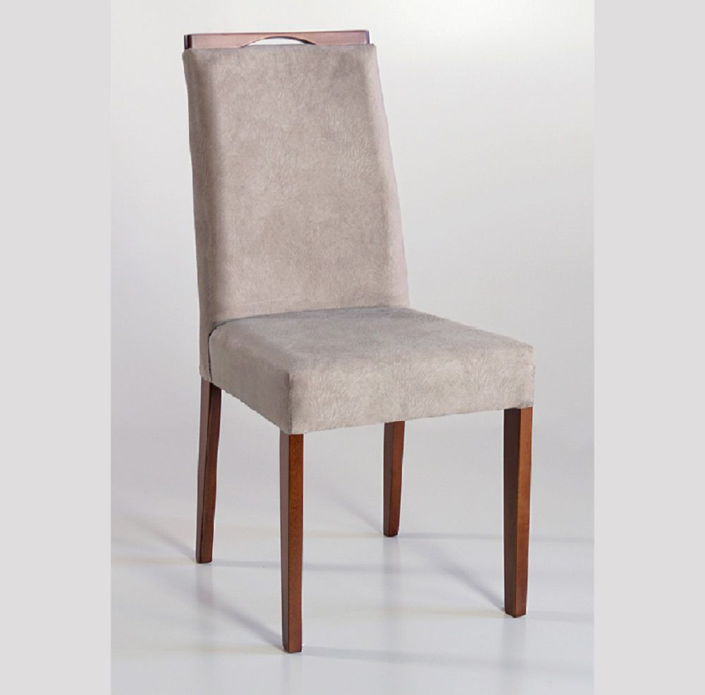 Cadeira Estofada Angra com Aplique Dorigon Tecido A118