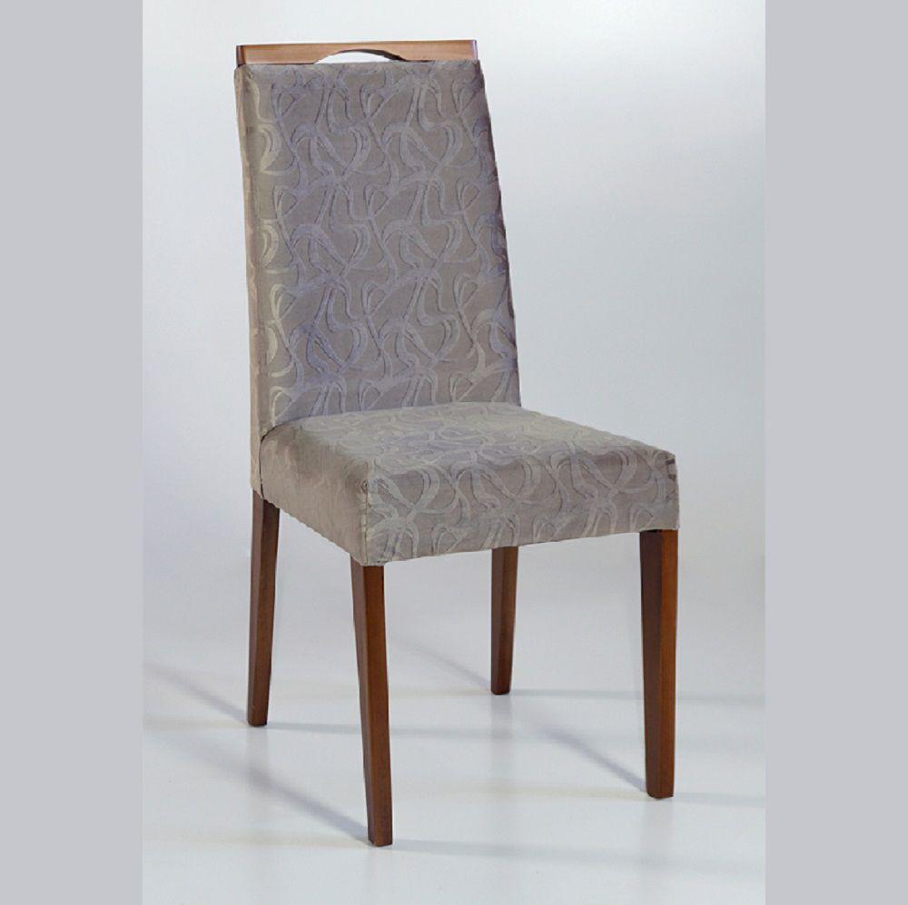 Cadeira Estofada Angra com Aplique Dorigon Tecido B227