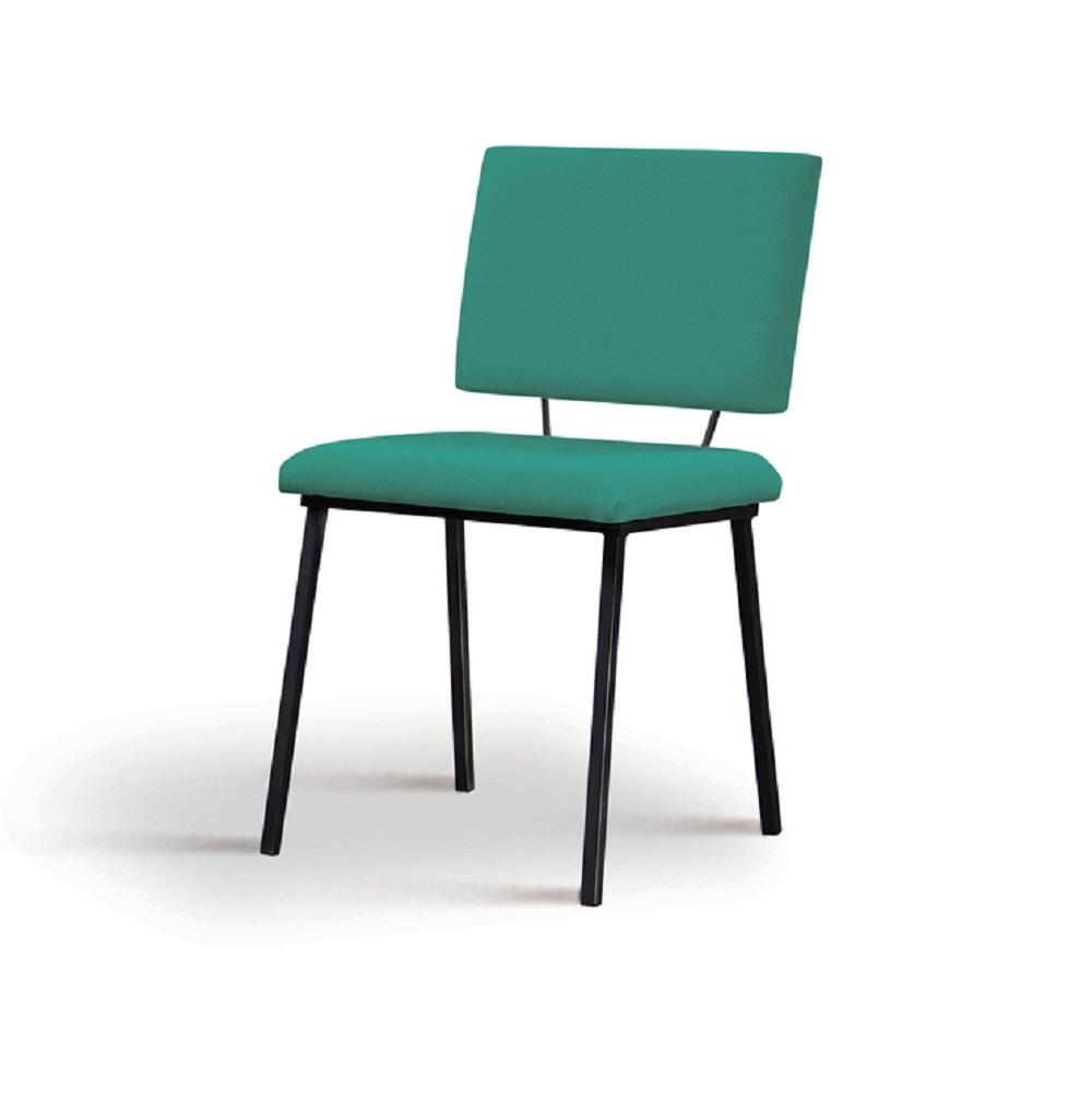 Cadeira Estofada Antonella F38 Azul Esverdeado