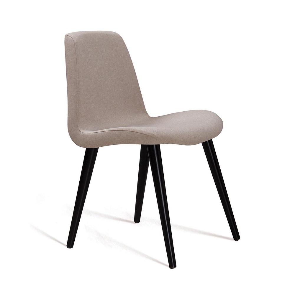 Cadeira Estofada Eames com Pés Palito F89 Bege