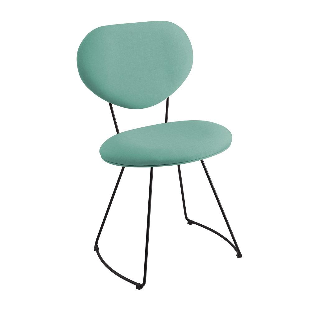 Cadeira Estofada Milão F42 Azul Turquesa