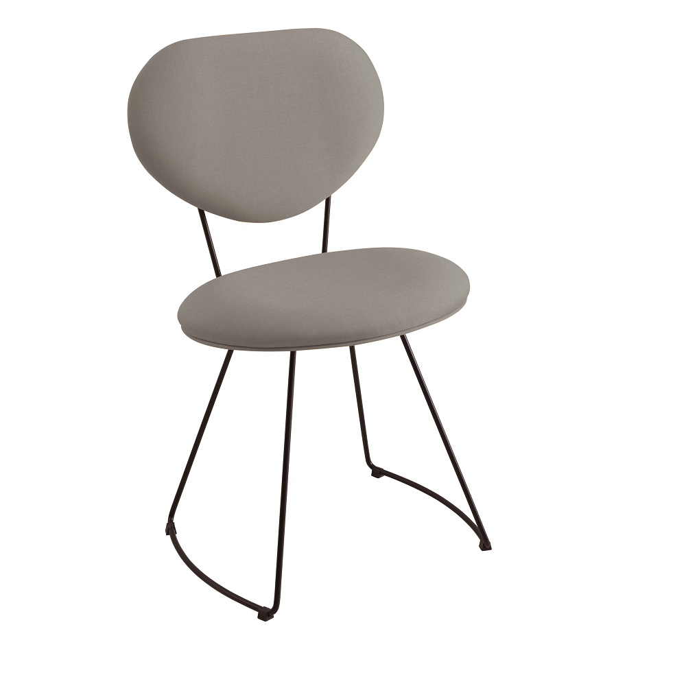 Cadeira Estofada Milão F42 Cinza