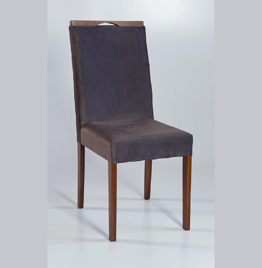 Cadeira Estofada Nirvana com Aplique Dorigon Tecido A102