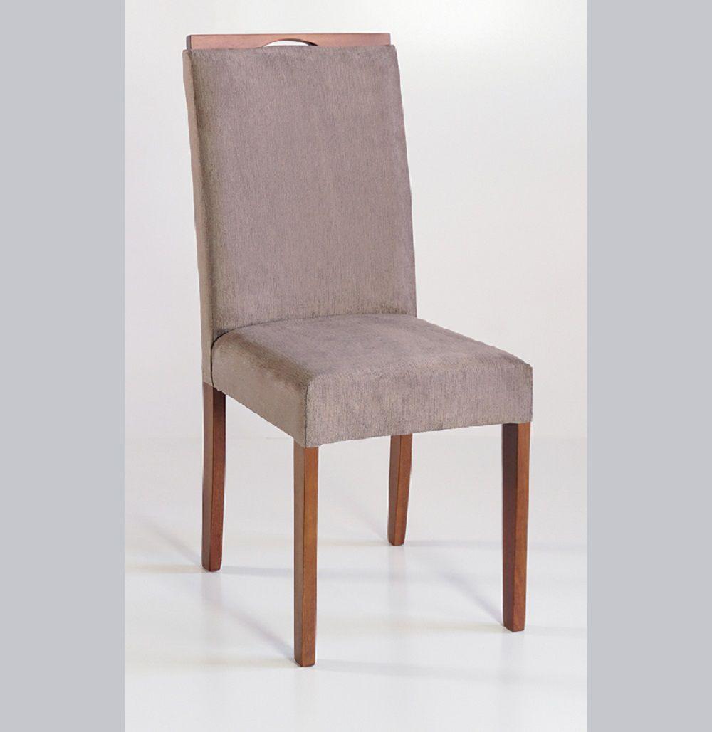 Cadeira Estofada Nirvana com Aplique Dorigon Tecido A103