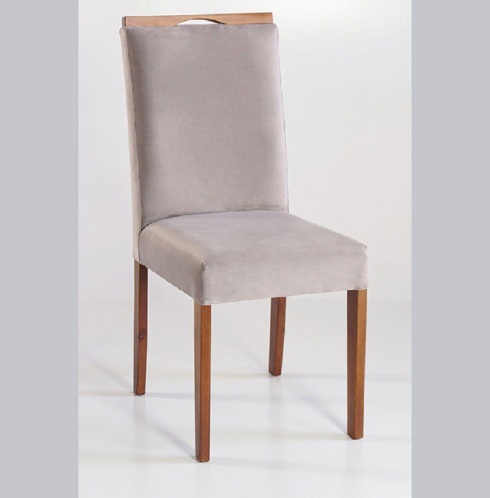 Cadeira Estofada Nirvana com Aplique Dorigon Tecido A107