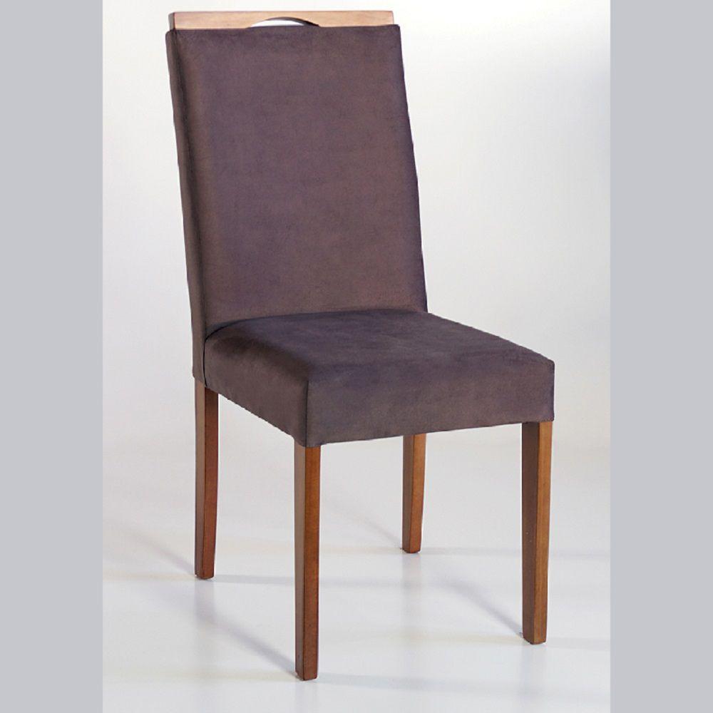 Cadeira Estofada Nirvana com Aplique Dorigon Tecido A108