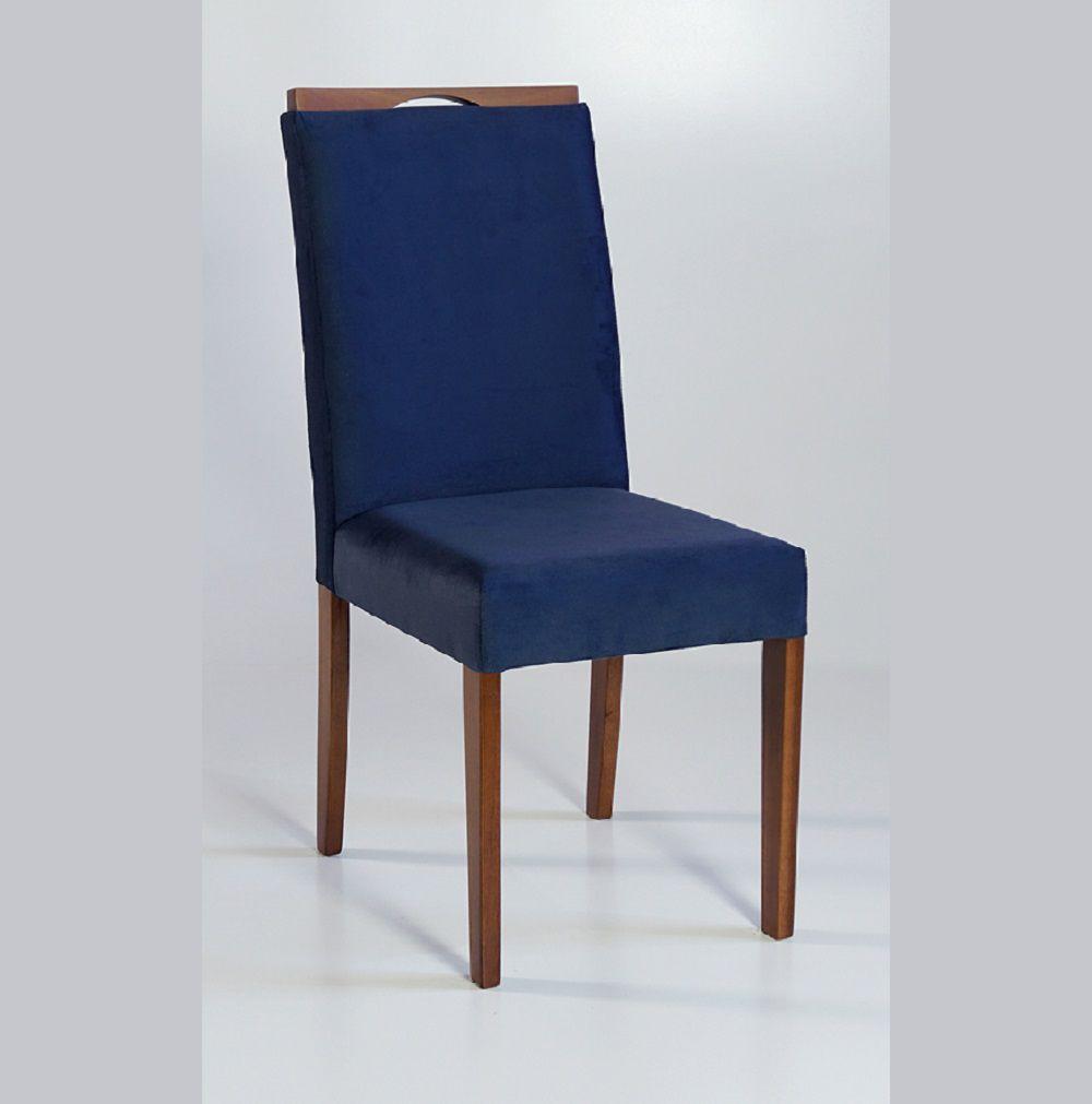 Cadeira Estofada Nirvana com Aplique Dorigon Tecido A110