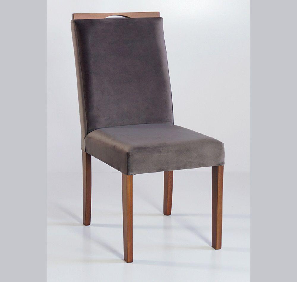 Cadeira Estofada Nirvana com Aplique Dorigon Tecido A112