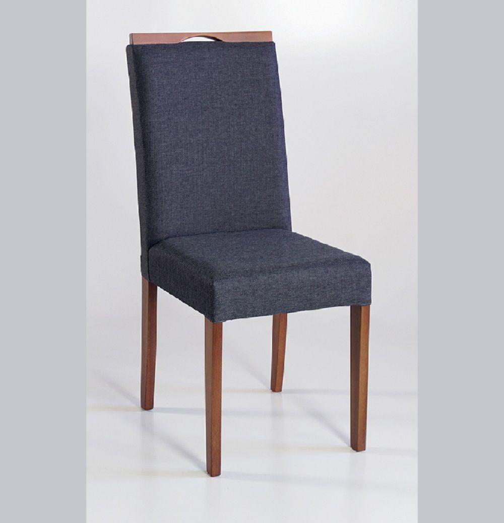 Cadeira Estofada Nirvana com Aplique Dorigon Tecido B215