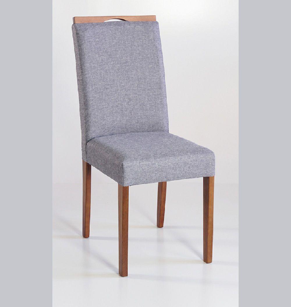 Cadeira Estofada Nirvana com Aplique Dorigon Tecido B216