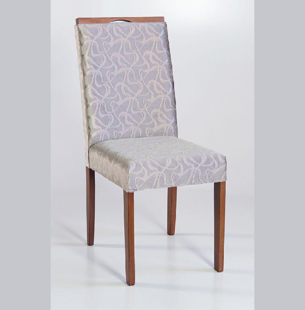 Cadeira Estofada Nirvana com Aplique Dorigon Tecido B227