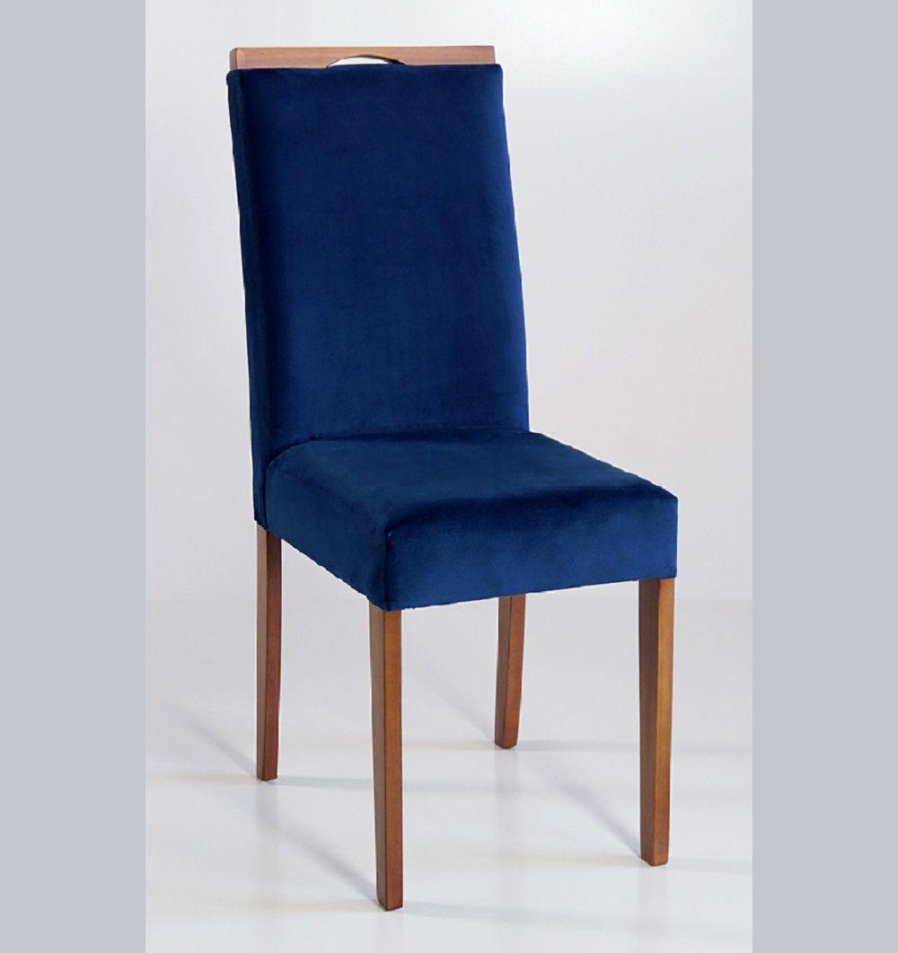 Cadeira Estofada Nirvana com Aplique Dorigon Tecido B235