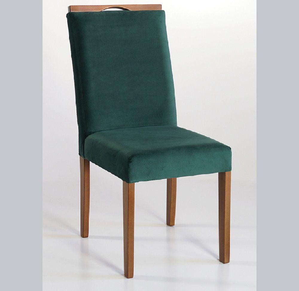 Cadeira Estofada Nirvana com Aplique Dorigon Tecido B236