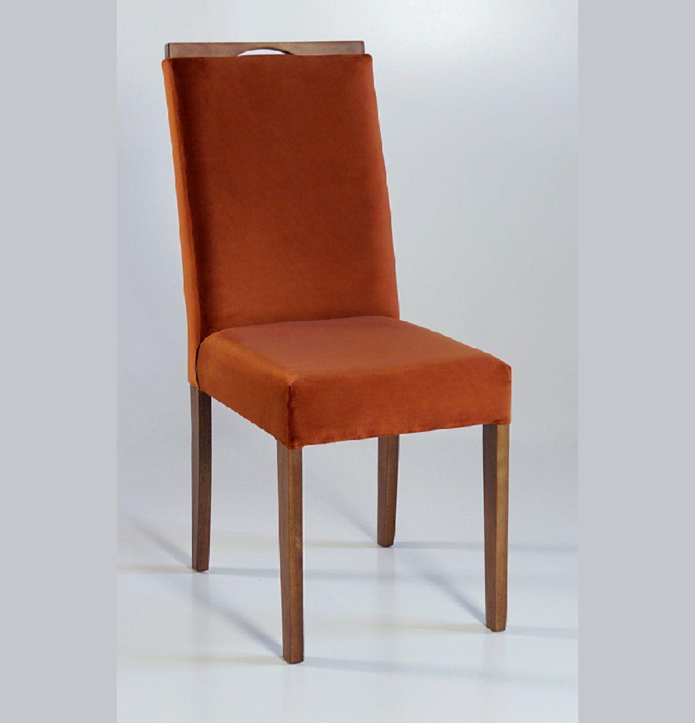Cadeira Estofada Nirvana com Aplique Dorigon Tecido B237