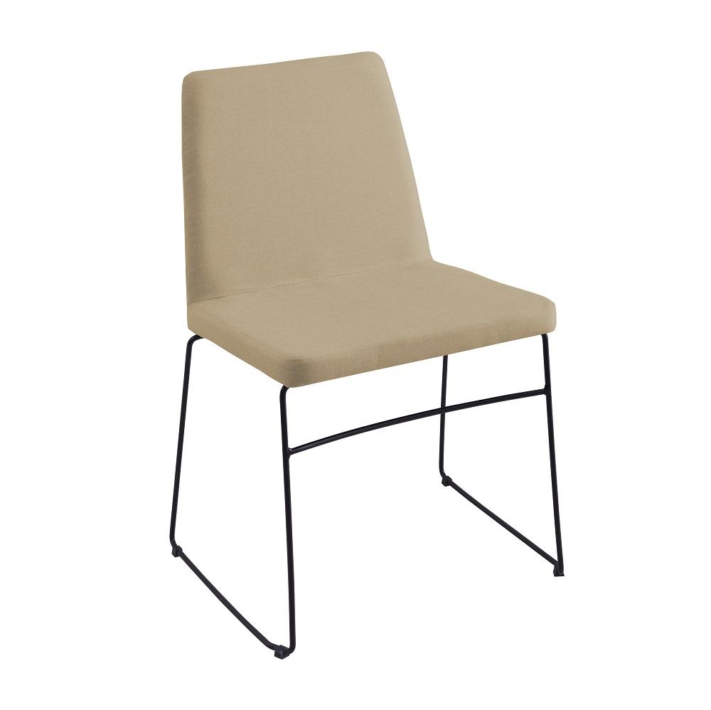 Cadeira Estofada Paris F41 Bege