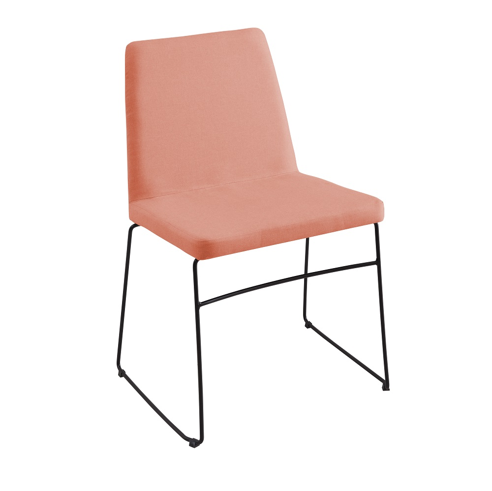 Cadeira Estofada Paris F41 Coral