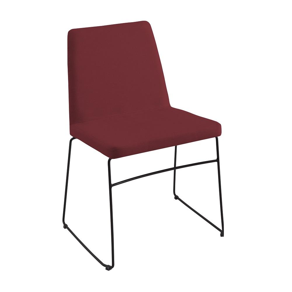 Cadeira Estofada Paris F41 Marsala