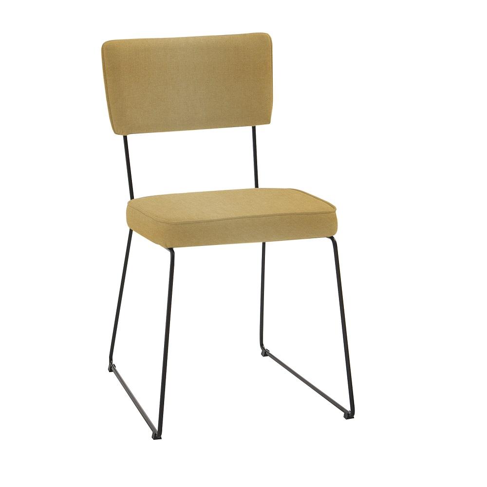 Cadeira Estofada Roma F53 Amarelo
