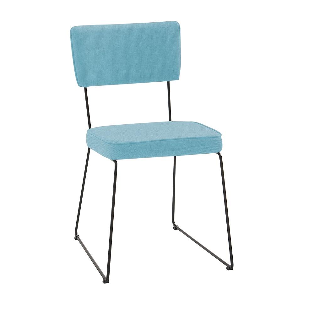Cadeira Estofada Roma F53 Azul Turquesa