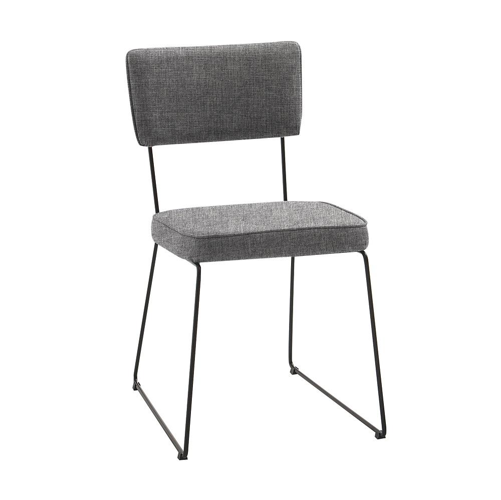 Cadeira Estofada Roma F53 Cinza